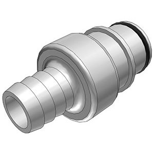 1 / 2 Hose Barb Non-Valved In-Line Polysulfone Coupling Insert