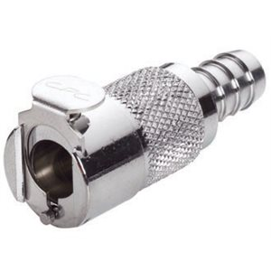 3 / 8 Hose Barb Non-Valved In-Line Chrome-plated Brass Coupling Body