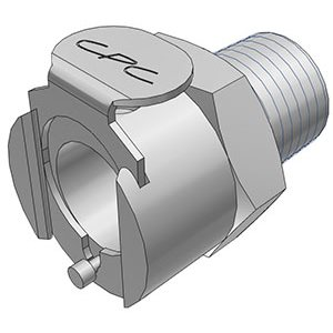 1 / 4 NPT Valved Chrome-plated Brass Coupling Body