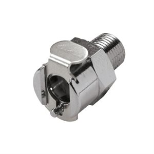 1 / 8 NPT Non-Valved Chrome-plated Brass Coupling Body