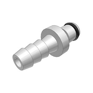1 / 4 Hose Barb Non-Valved In-Line Chrome-plated Brass Coupling Insert