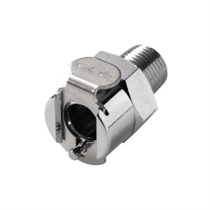 1 / 8 NPT Valved Chrome-plated Brass Coupling Body