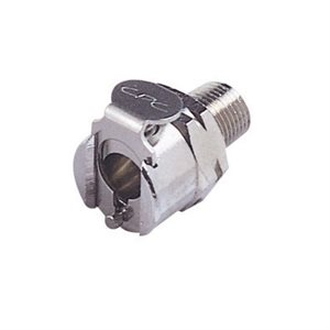 1 / 8 BSPT Valved Chrome-plated Brass Coupling Body