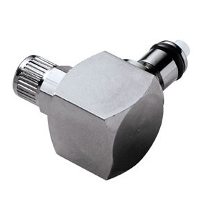 5 / 32 PTF Valved Elbow Chrome-plated Brass Coupling Insert