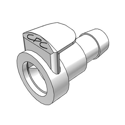 3 / 8 Hose Barb Non-Valved In-Line Class VI ABS Coupling Body