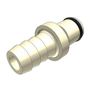 3 / 8 Hose Barb Non-Valved In-Line Polypropylene Coupling Insert