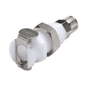4mm PTF Non-Valved Panel Mount Acetal Coupling Body