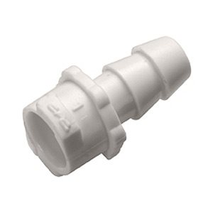 5mm Hose Barb Non-Valved In-Line Disposable ABS Molded White Coupling Body
