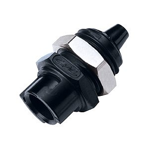 1 / 8 Hose Barb Non-Valved Panel Mount Acetal Dyed Black Coupling Body